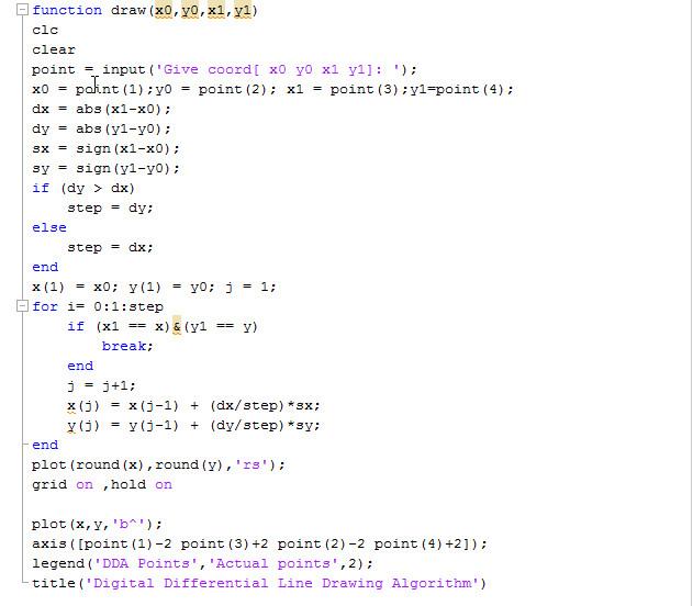 Line Drawing Algorithm Using Dda : Membuat garis dengan beberapa metode pada matlab ada apa