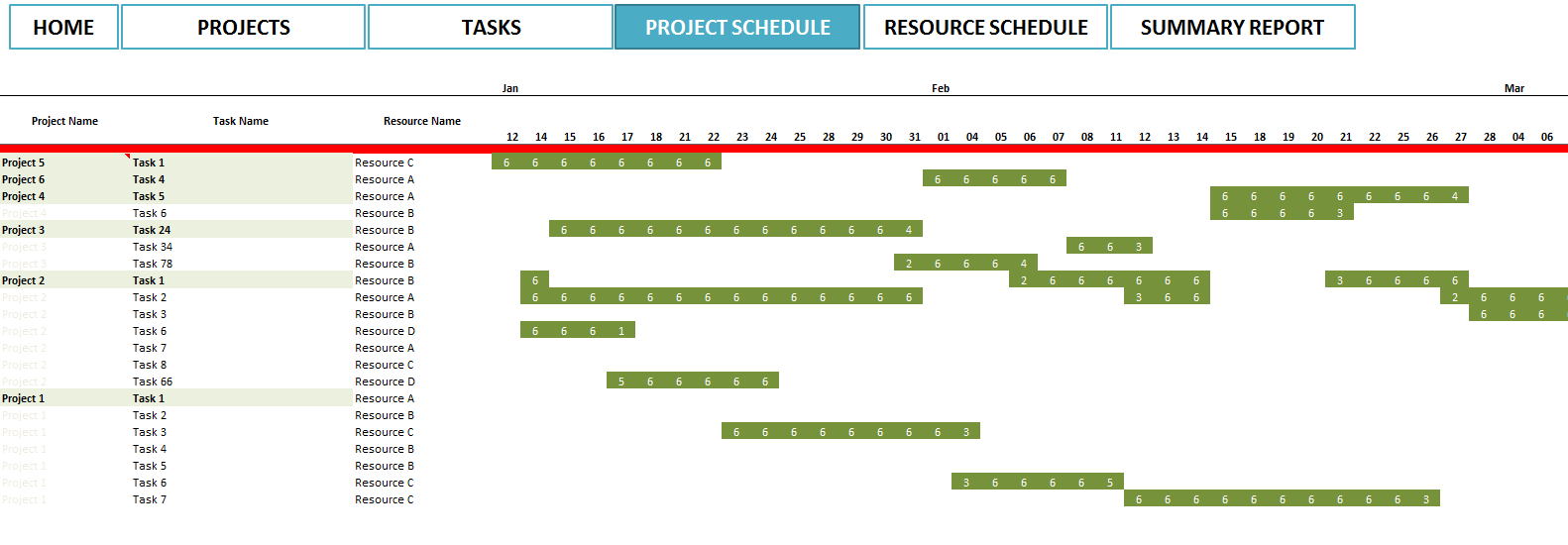 Diy free project plans in excel plans free for Project plan free