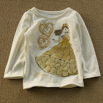 Disney L/S tee Cream Princess