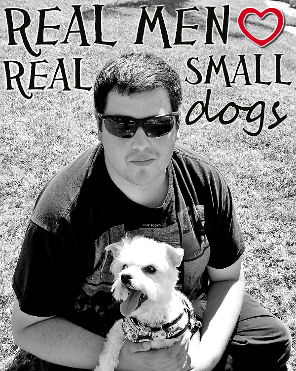 Real men love real small dogs.