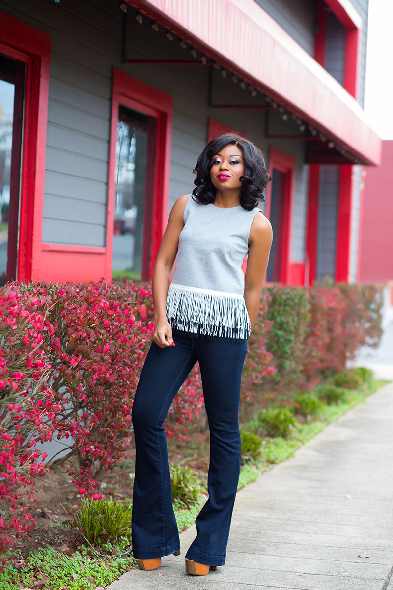 JCrew fringe top and Jbrand jeans on www.jadore-fashion.com