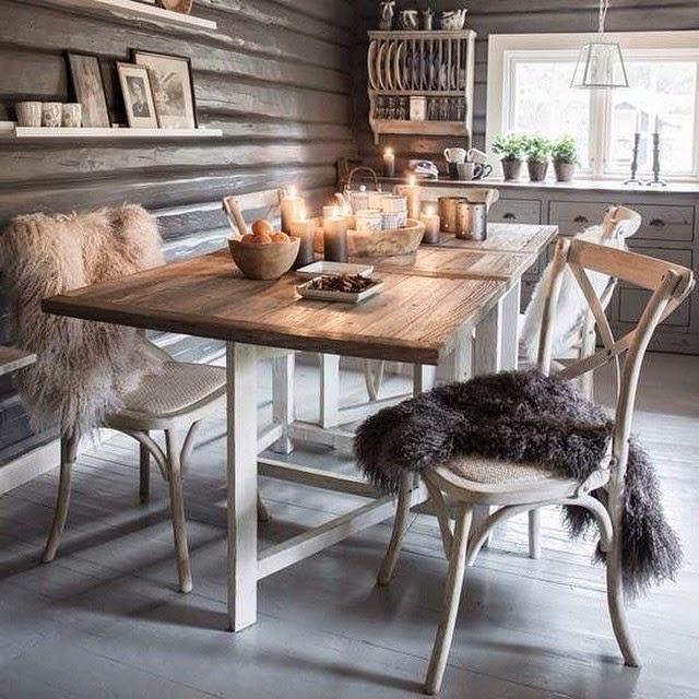 Vicky\'s Home: Comedores rústicos / Rustic dining room