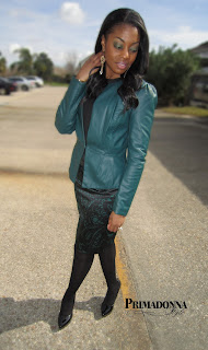 What to wear with a colored leather jacket outfit ideas inspiration
