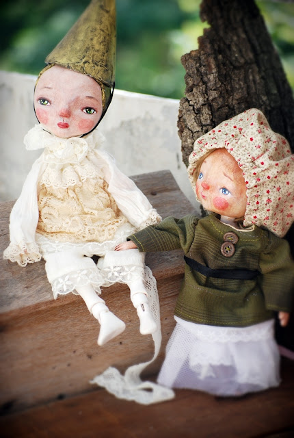 paper clay dolls