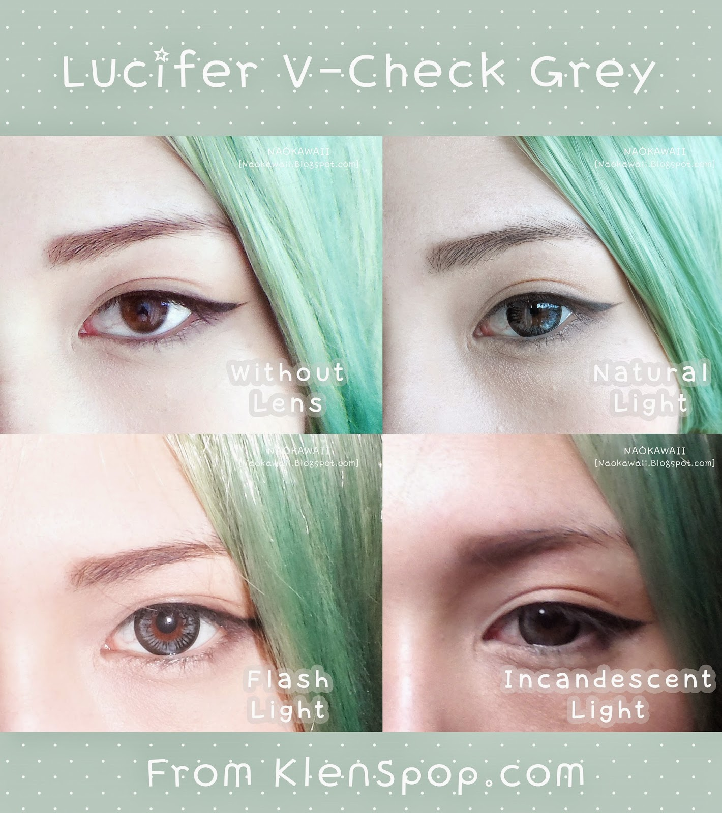 Naokawaii : EOS Lucifer V-Check Grey Circle Lenses Review