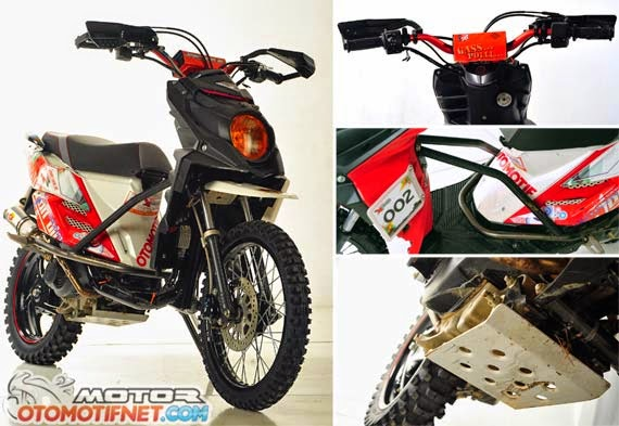 Top modifikasi mio sporty menjadi x ride