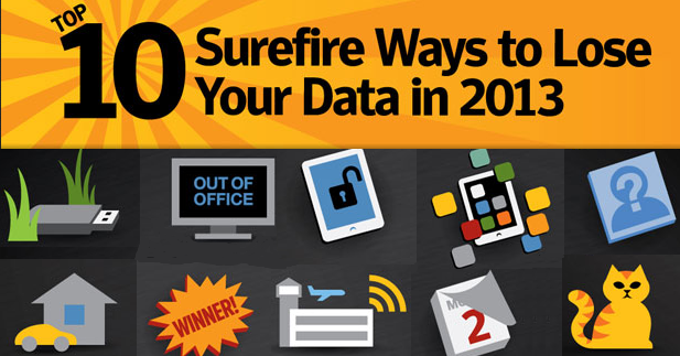 10 ways to lose your data in 2013 with tips, how to lose your information
