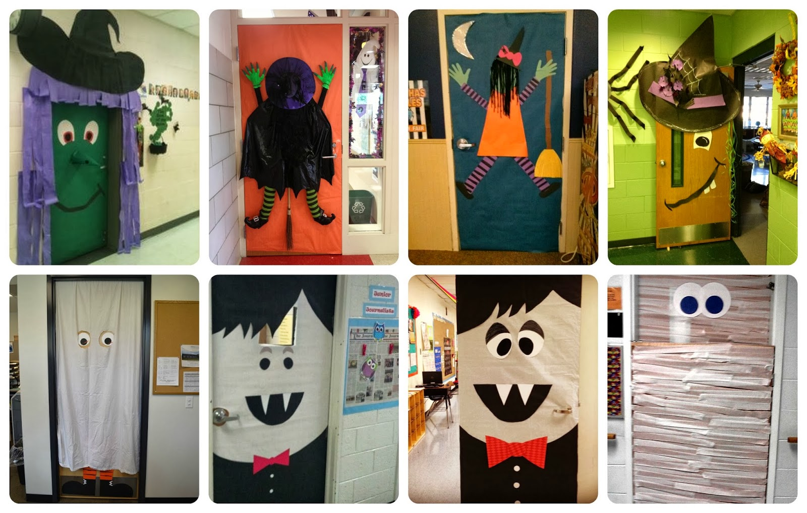 Recursos ideas para decorar en halloween handbox craft - Puertas decoradas halloween ...
