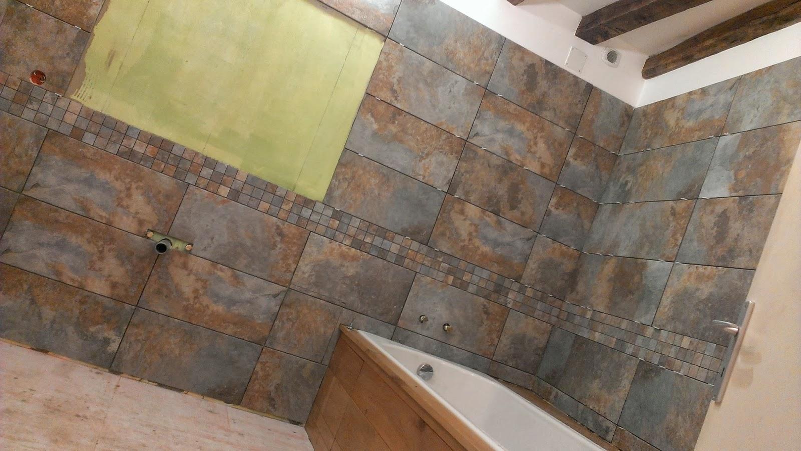 Vive les travaux r alisation salle de bain for Carrelage castorama