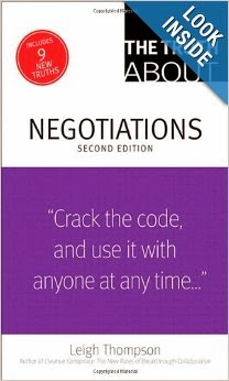 Cover of truth about negotiations book by Leigh Thompson