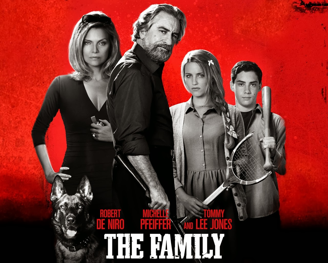 The above picture is a movie poster for the film The Family