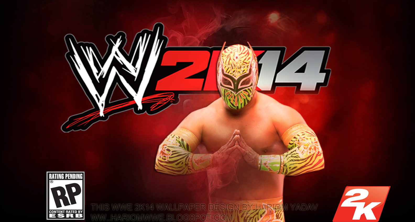 wwe superstars 2013: wwe 2k14 wallpaper [feat.sin cara] designhariom