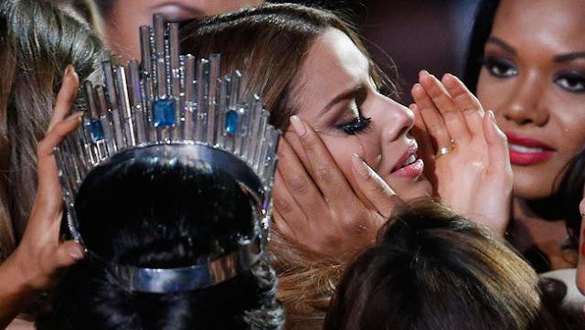 miss colombia ariadna gutierrez llorando coronada por error