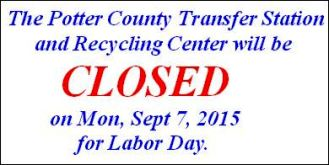 9-7 Closed Labor Day