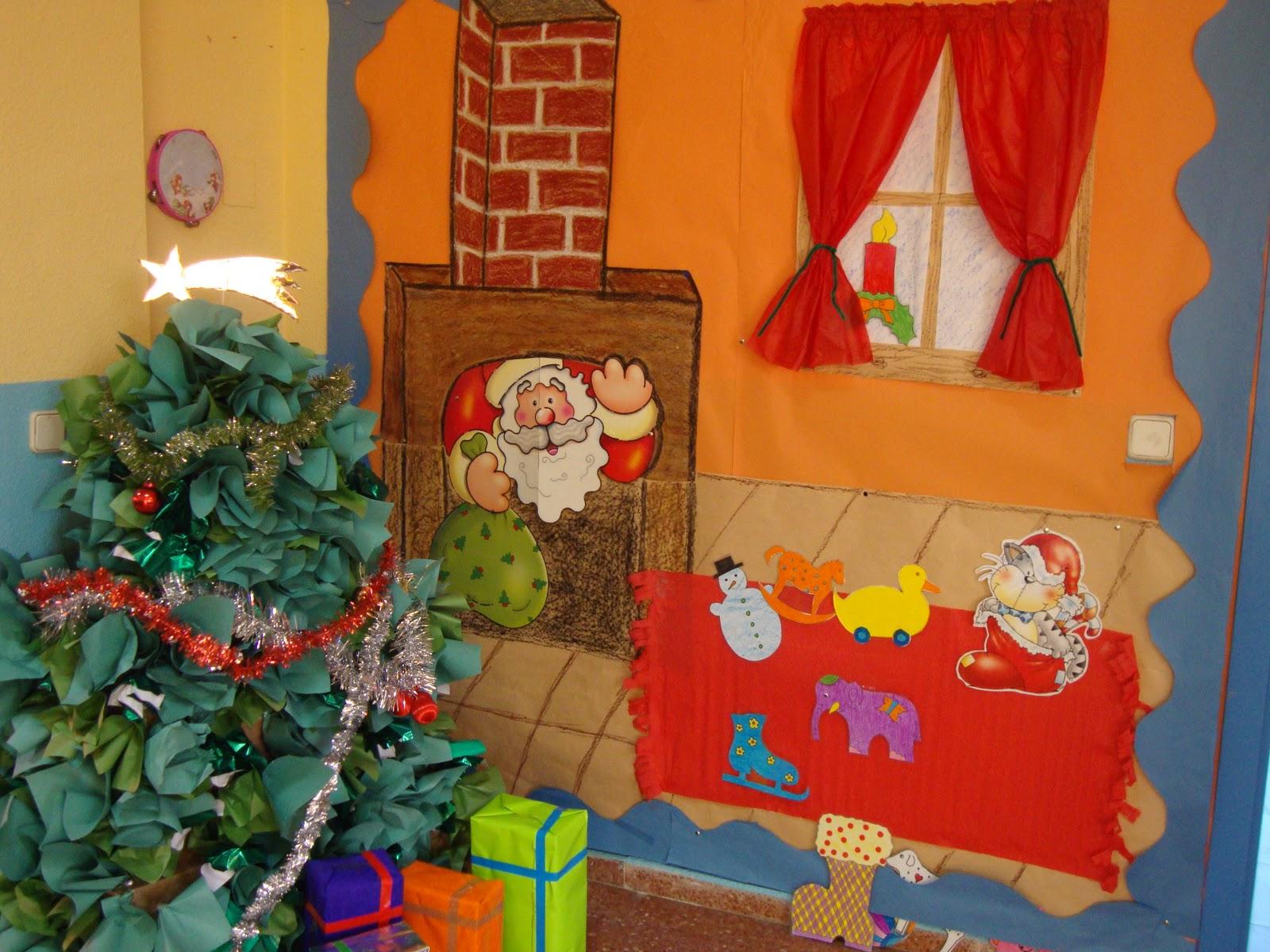 Al final del armario deco navide a con peques for Mural navideno