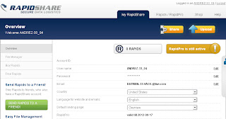 rapidshare Premium Account 12 september 2012 With Proof