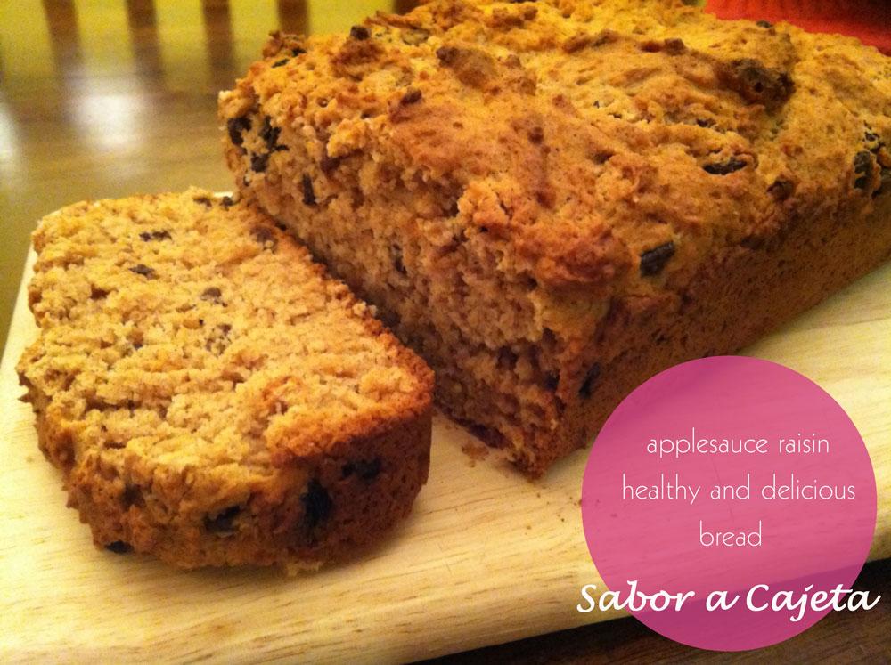 Weekend Baking: Applesauce Raisin Delicious & Healthy (Nut Free) Bread ...