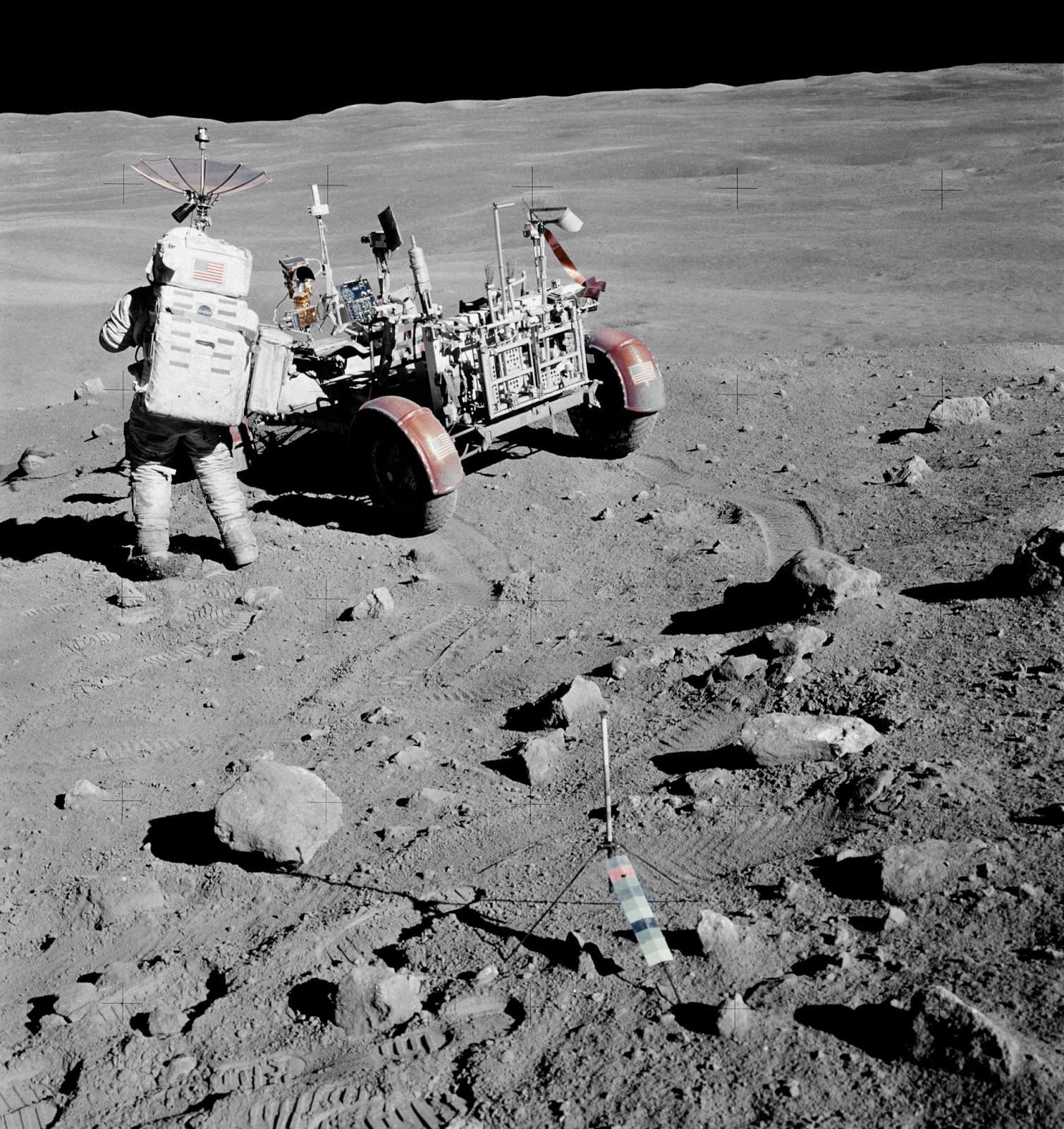 Moon rover NASA space program landing controversy science astronomy space astronauts apollo