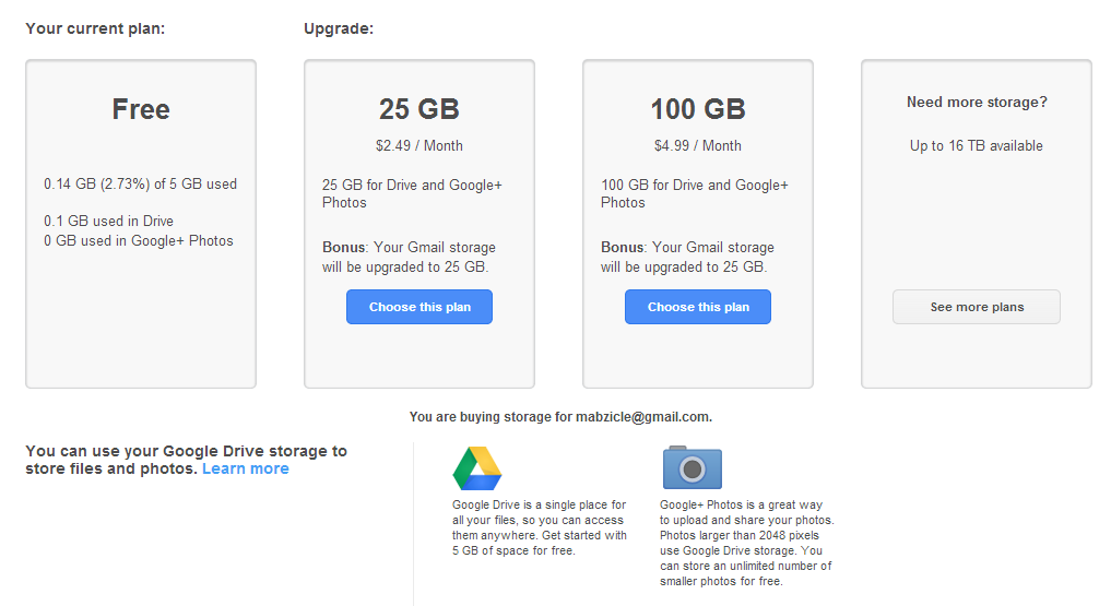 15GB Consolidated & Shared Storage Between Google Drive ...