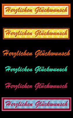 """""""Herzlichen Glückwunsch"""" in verschiedenen Variationen"""