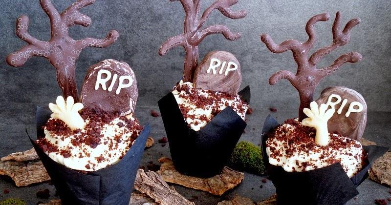 schaurige halloween cupcakes meine k chenschlacht. Black Bedroom Furniture Sets. Home Design Ideas