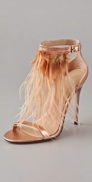 Pale Gold Colour Heel Shoes