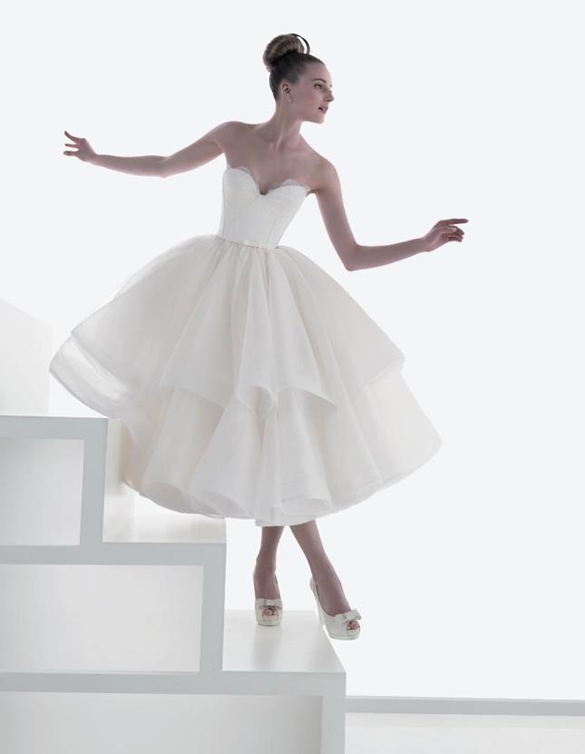 50s Tea Length Wedding Dress 76 Good