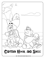 jake and the never land pirates coloring pages captain hook smee