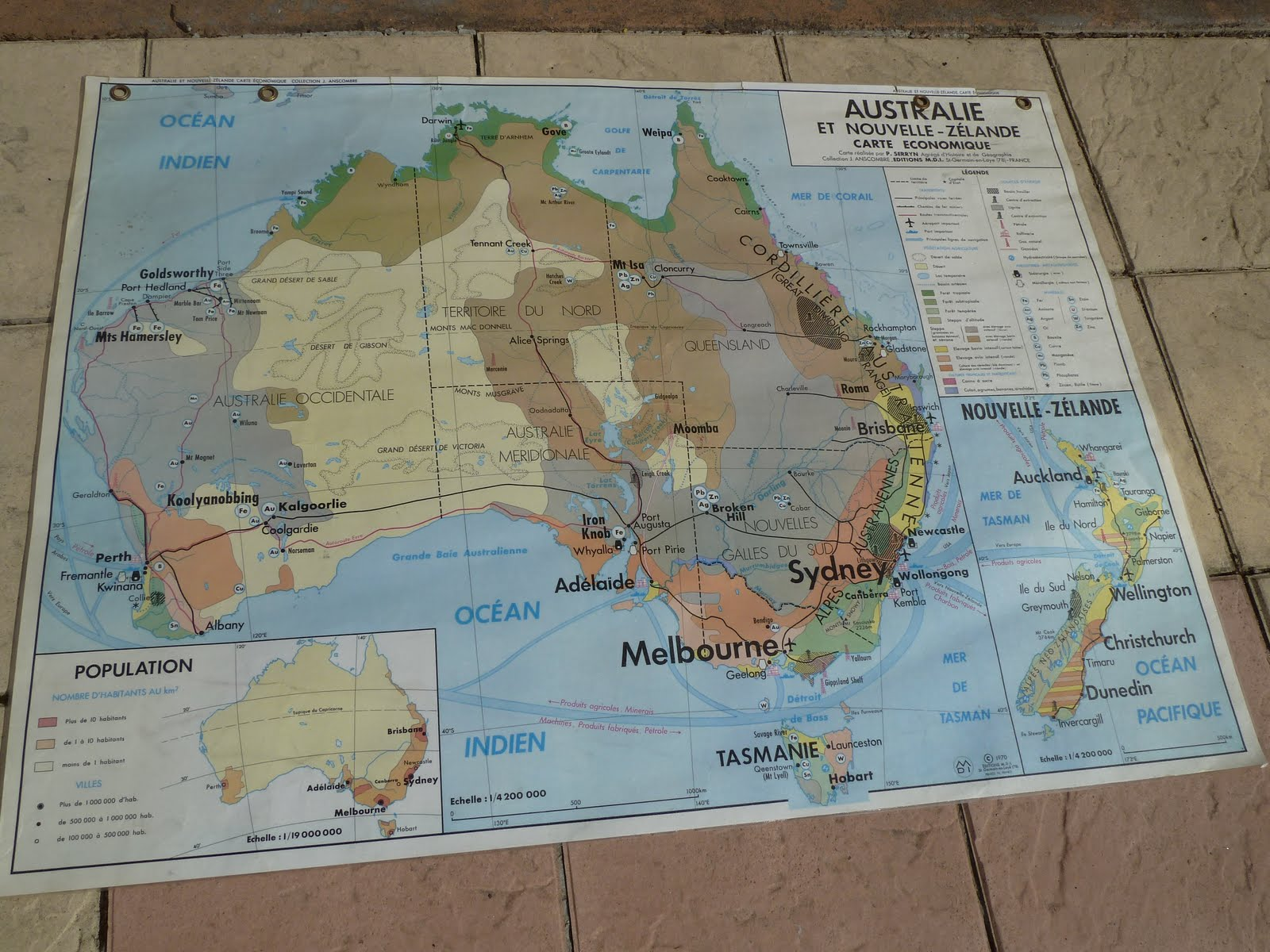 Vintage french posters botany animals anatomy old world maps from french map of australia indonesia and oceania 1970 gumiabroncs Gallery
