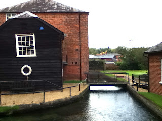 Whitchurch water wheel silk weaving mill textiles river test hampshire