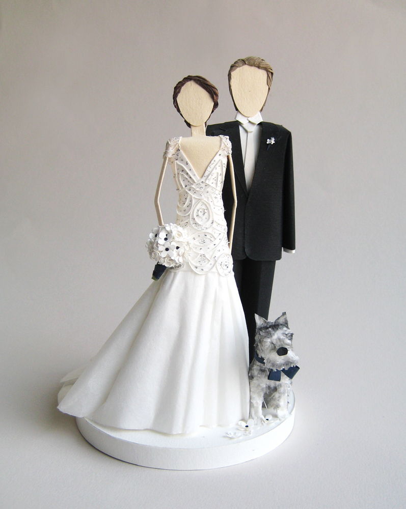Art Deco Style Cake Topper : Concarta: Paper sculpture cake toppers for weddings ...