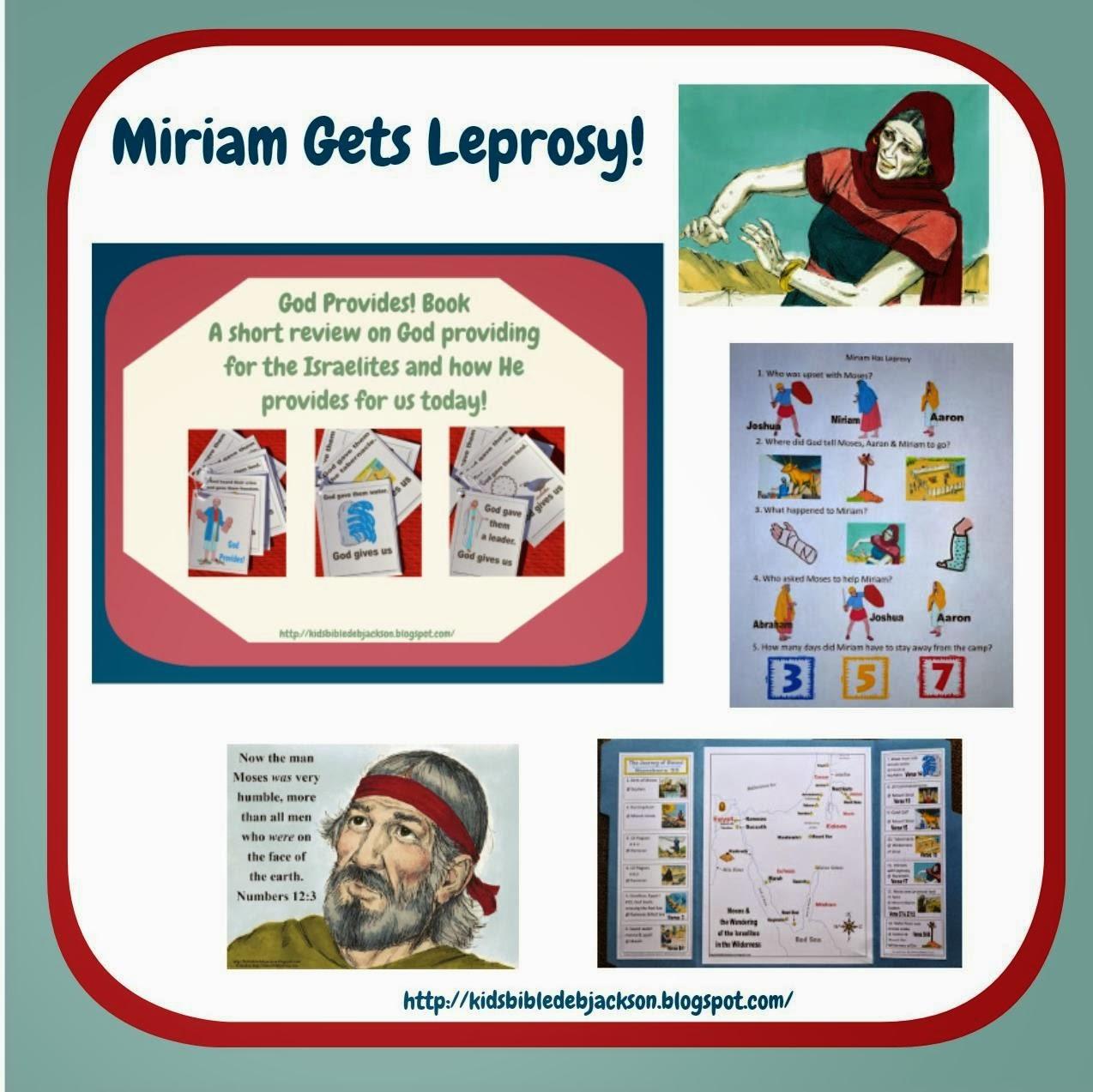 http://kidsbibledebjackson.blogspot.com/2013/11/moses-miriam-has-leprosy.html