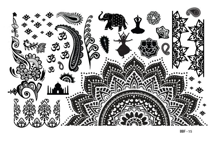 Lacquer Lockdown - stamping, nail art, easy nail art ideas, easy nail art, cute nail art, diy nails, diy nail art, indie plate maker, new stamping plates 2014, new nail art plates 2014, new nail art image plates 2014, new stamping plates, LojaBBF, Loja BBF, full nail images, indian plate, indian abstract, dancing godess, budda, elephants, abstracts, indian prints, east indian nails, henna, indigo, 4 armed goddess, abstract patterns, lojaBBF 15, BBF 15