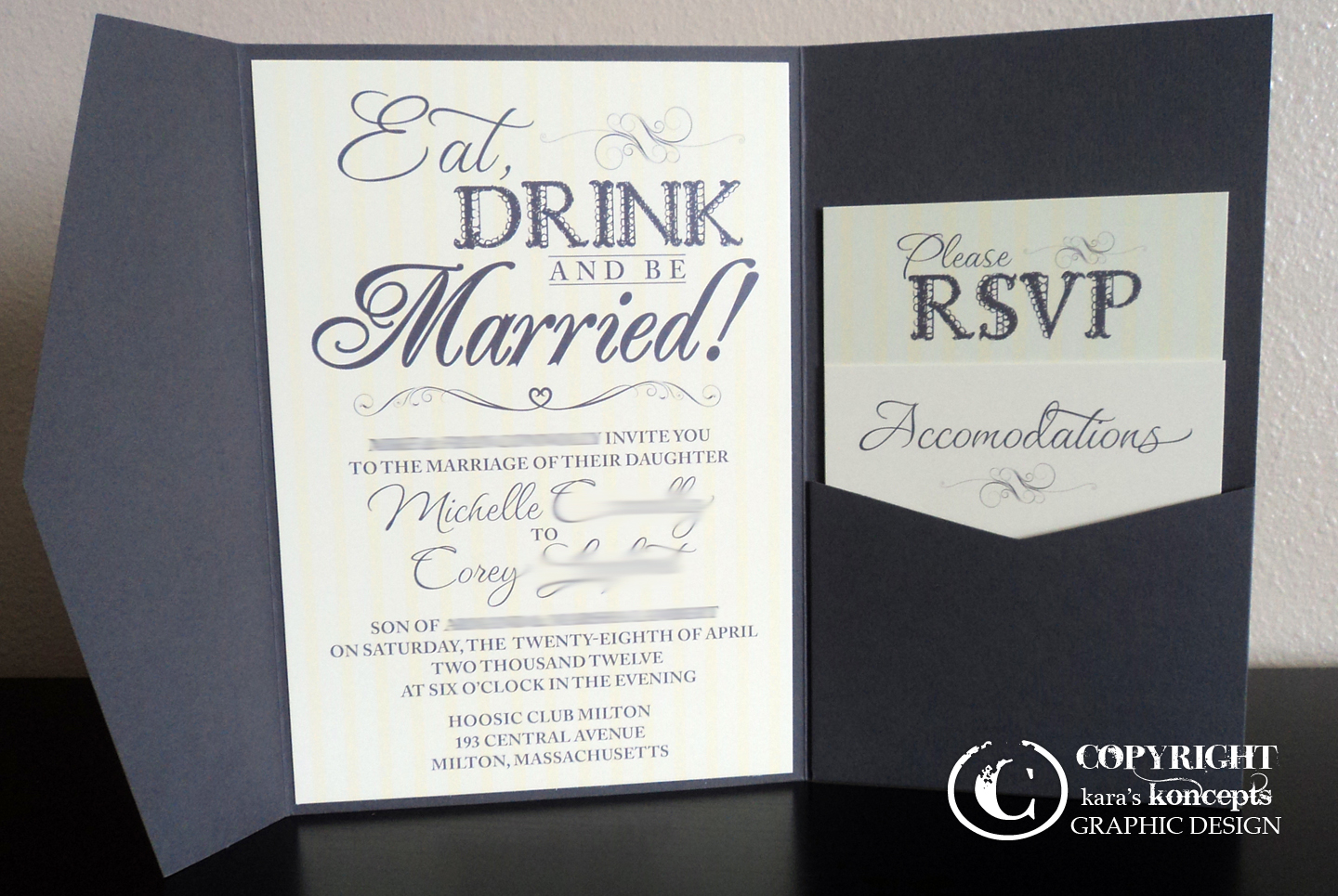 Kara\'s Koncepts Graphic Design - Custom Wedding Invitations, Canvas ...