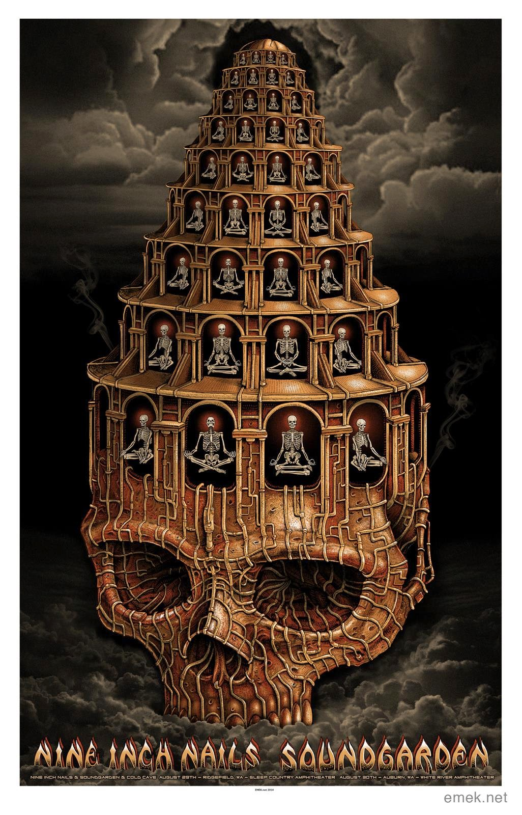 INSIDE THE ROCK POSTER FRAME BLOG: Emek Nine Inch Nails ...