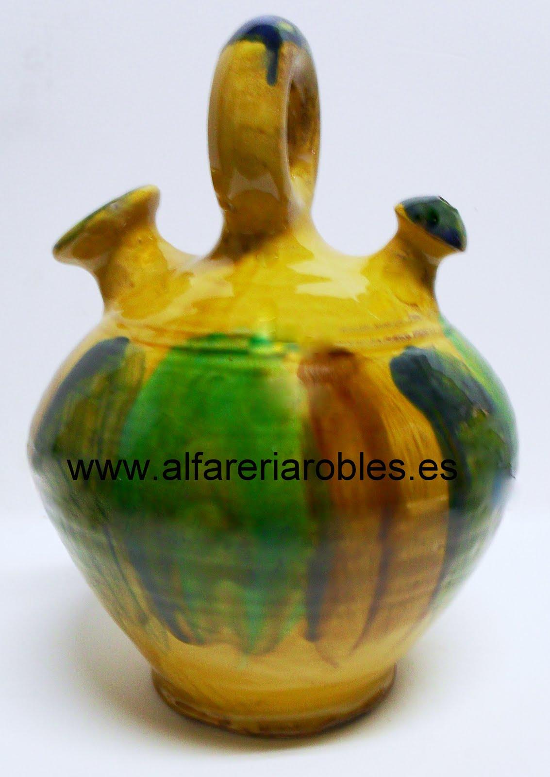 Alfarer a cer mica robles artesan a de almeria botijos - Botijo de barro ...