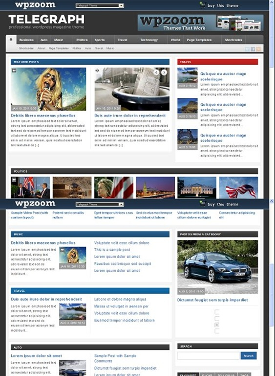 Telegraph - Magazine Theme by WpZoom