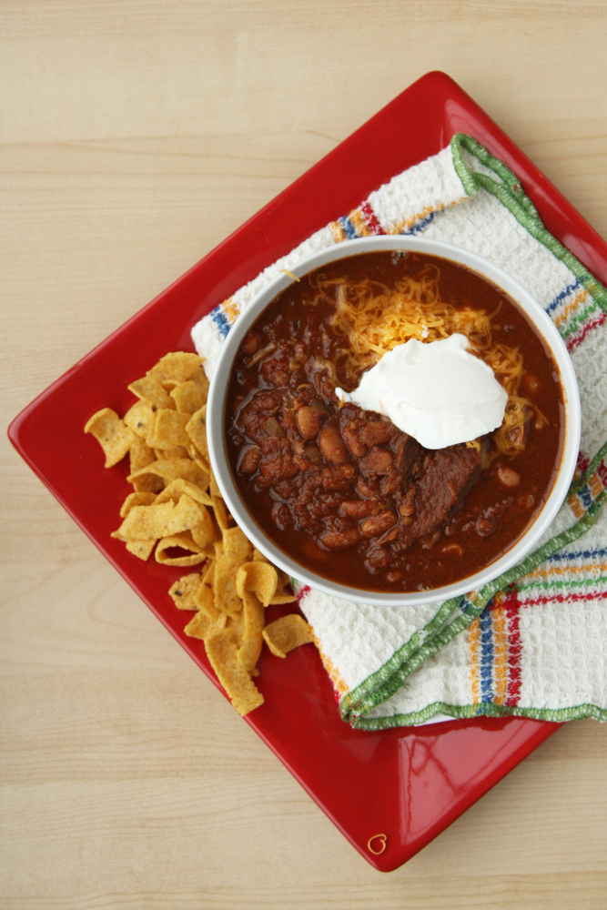 Easy crockpot steak chili. The best chili I've ever made!
