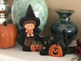 Little Wooden Witch and Cat
