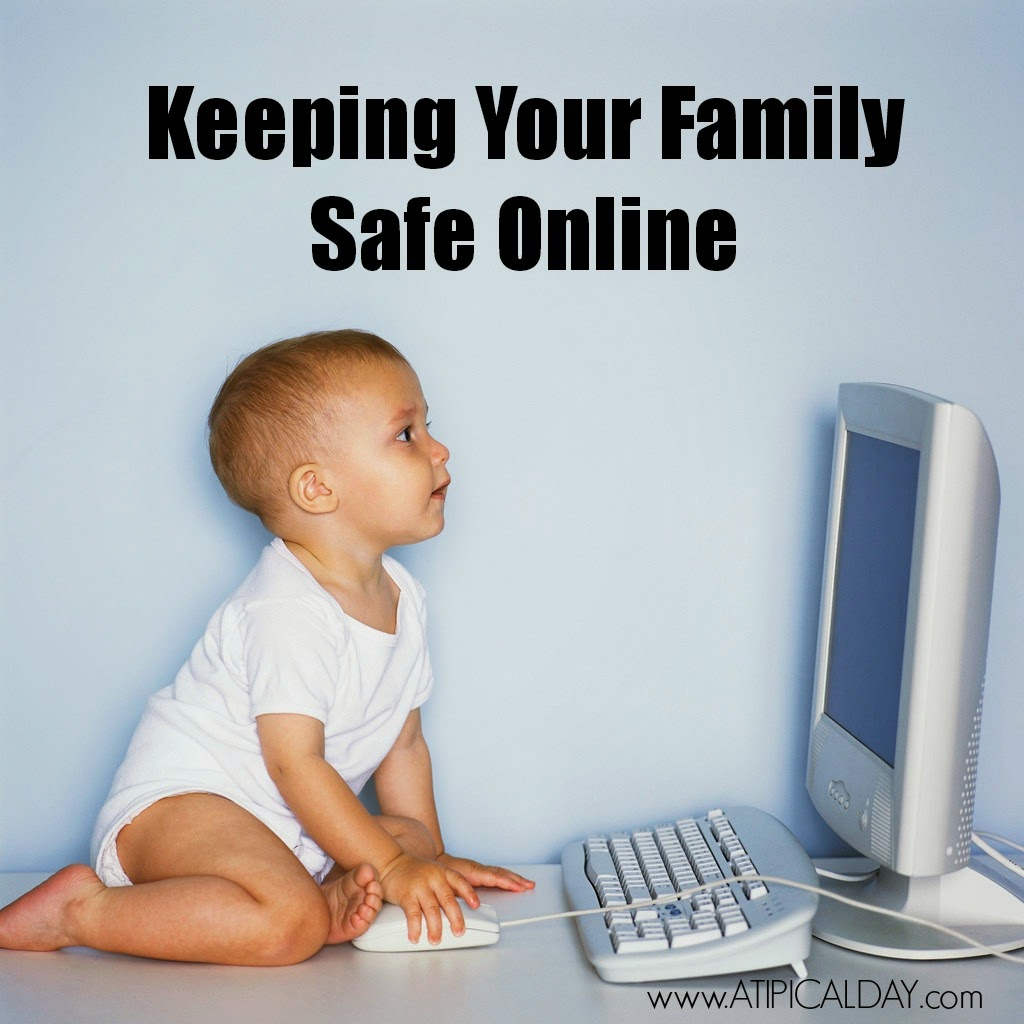 Baby clicking a computer mouse.  Keeping your family safe online.  #Internetsafety #onlinedangers #netsmartz