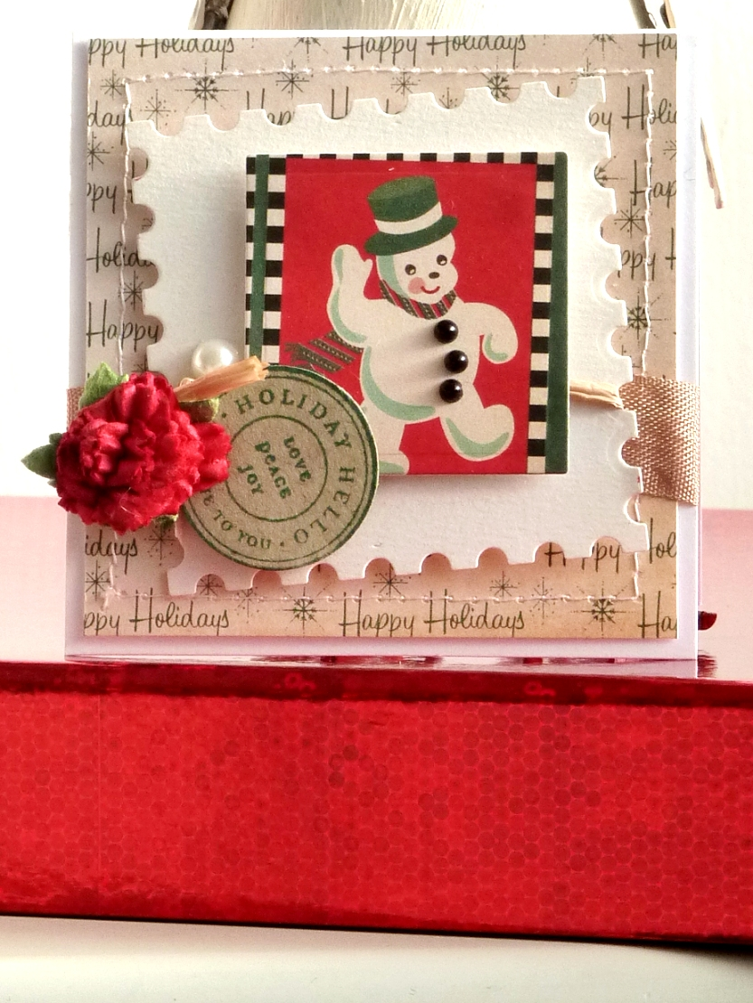 notes on paper: Cards: mini Christmas cards with Cosmo Cricket.