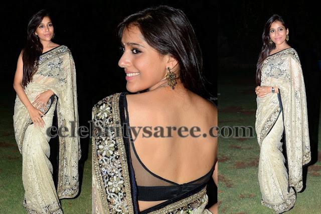 Rashmi Back Neck Blouse in Black
