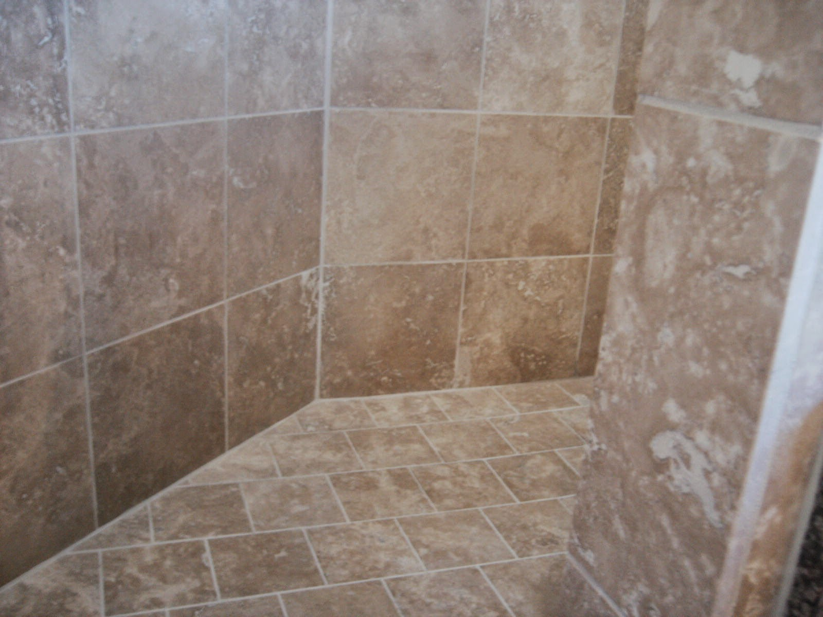 Bathroom tile ideas no grout : Black mold travertine tile revisit confessions of a