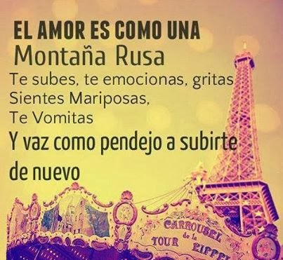 El amor es como una montaña rusa