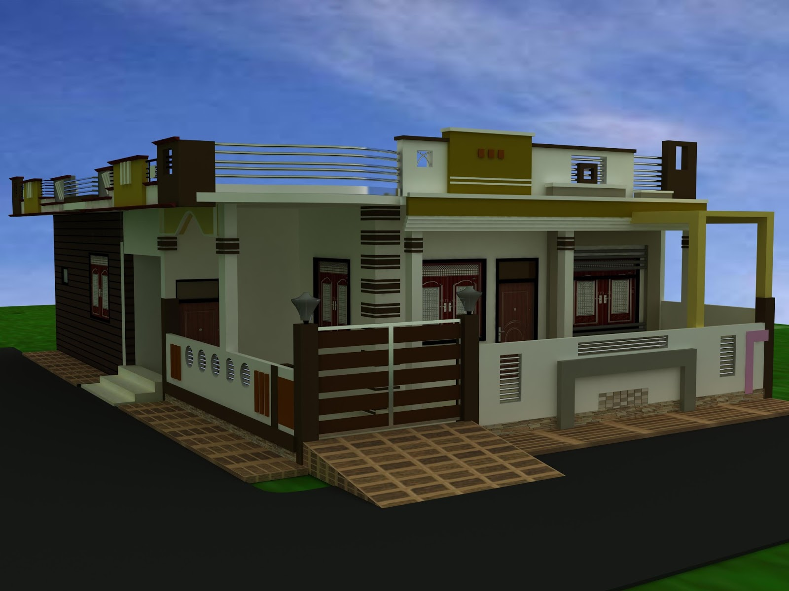 Front House Elevation Design also Bungalow Houses In India in addition ...