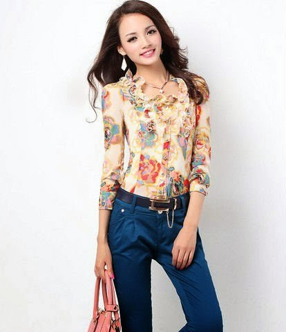 CHIFFON TOPS CASUAL TEEN COLLECTION 2014