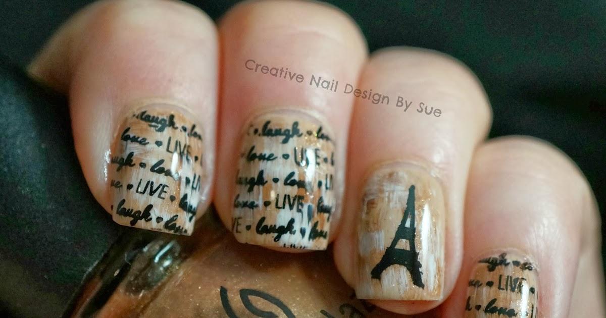 Creative Nail Design By Sue Digital Dozen Does Vintage Paris