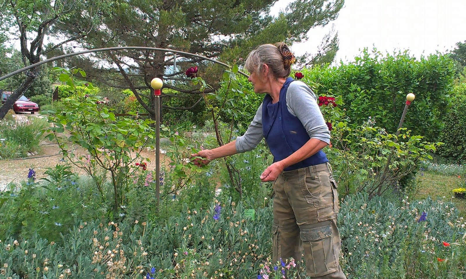 Marie Gabrielle au jardin