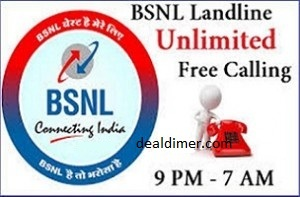 BSNL Landline Unlimited Free Calls between 9PM to 7AM