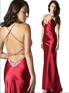 Vestido Rojo de NocheVieja 2012 Escotado Largo